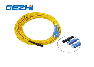 Trung Quốc LC / APC Patch Cord MT - RJ to SC Singlmode Duplex Zipcord Without Clip Yellow nhà cung cấp