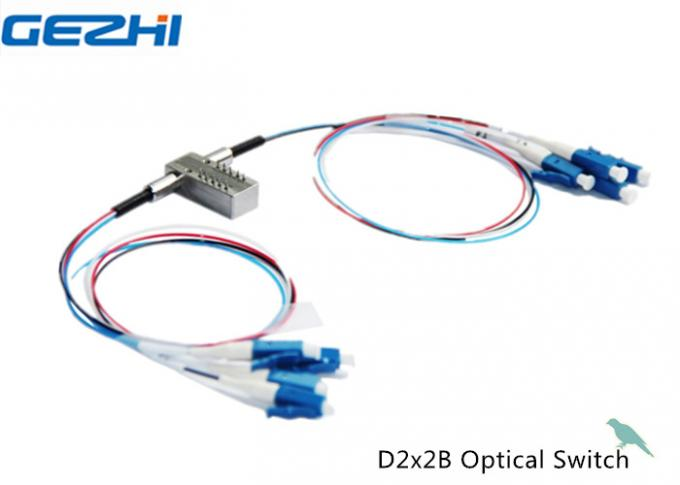 D2X2B Mechanical Optical Switches For OADM System , OXC , Monitor System